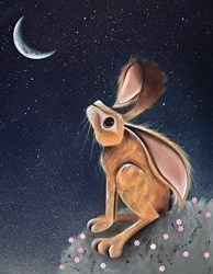 Moongazer by Jennifer Hogwood - Embellished Limited Edition on Canvas sized 14x18 inches. Available from Whitewall Galleries